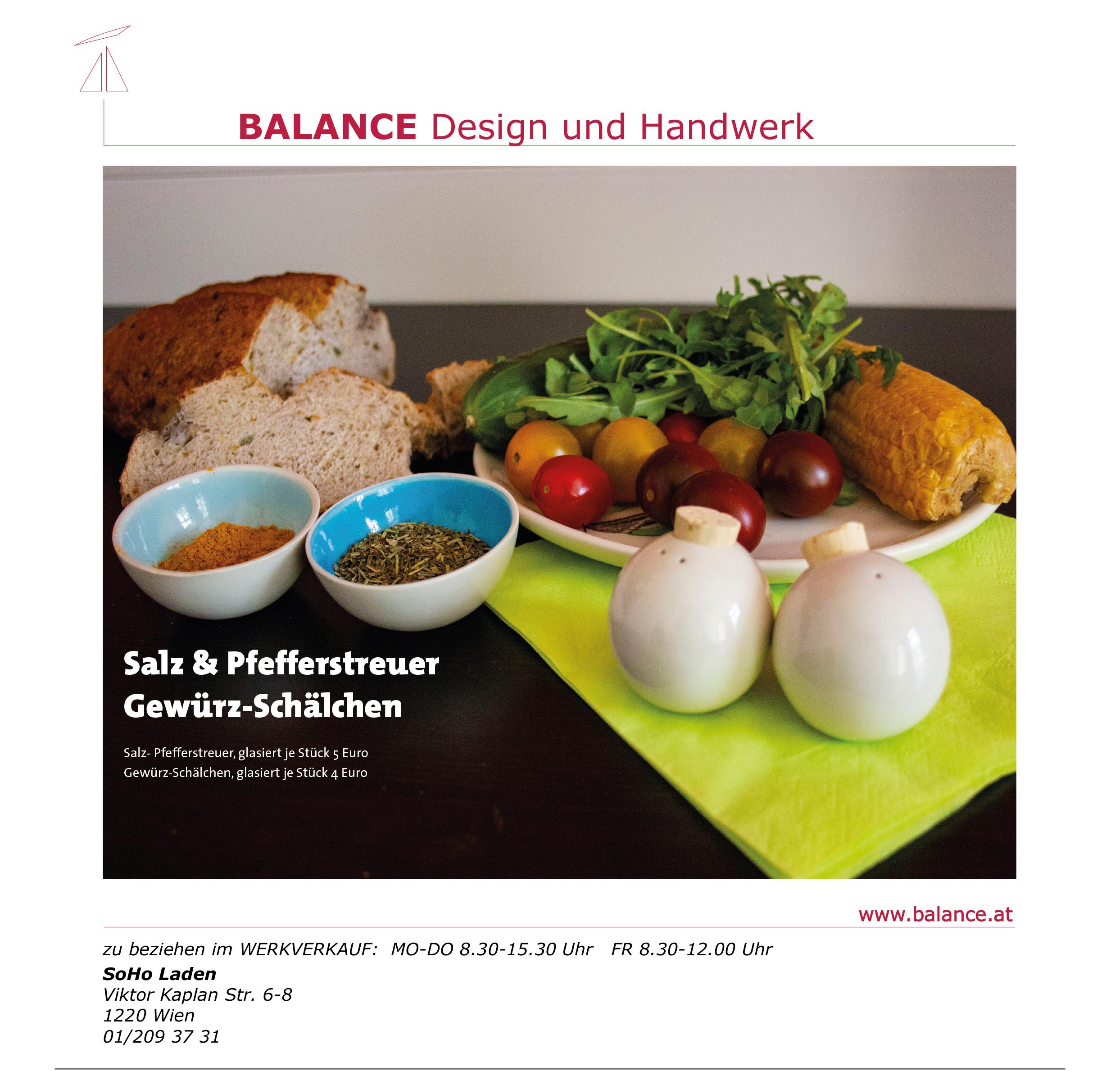 Salz & Pfefferstreuer mit Gewürz-Schälchen