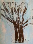 Ohne Titel 2014, Linoldruck, 24x22cm