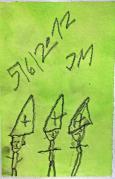 """""""3 Pfarrer"""", Juni 2012, Mischtechnik auf Papier"""