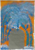 """Jacqueline Wehdorn, """"Springbrunnen"""", Acryl auf Papier, Juli 2012"""