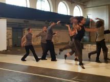 Ensemble tanzMontage bei ihrem Auftritt NULLMORPHEM - Eine Lyrik
