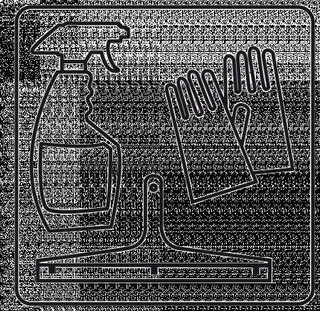 Symbol für Reinigung